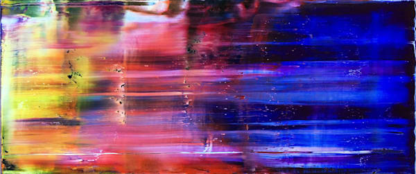 Warp Speed abstract oil painting