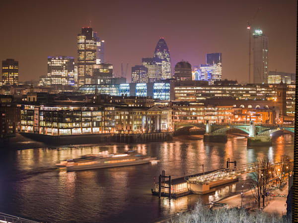 The City of London at Night | London Art Photography Store