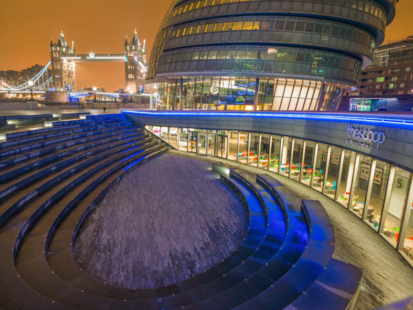 The Scoop and Tower Bridge | London Art Photography Store