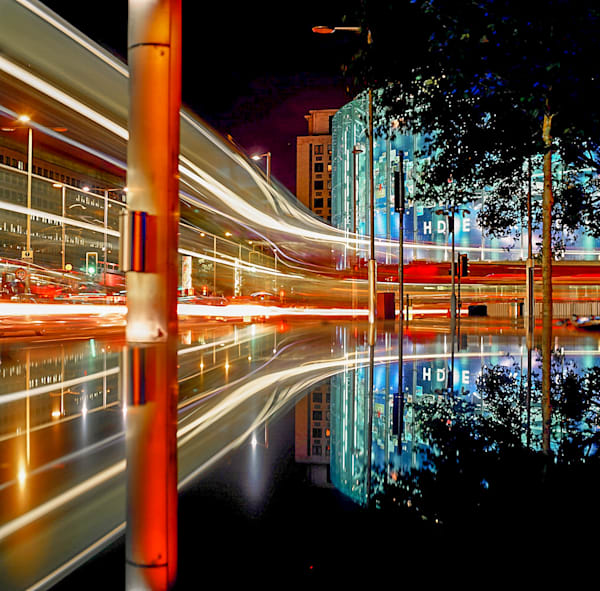 Red Streak Reflection | London Art Photography Print