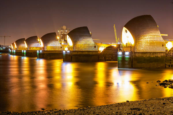Thames Barrier Reflection | London Art Photography Print
