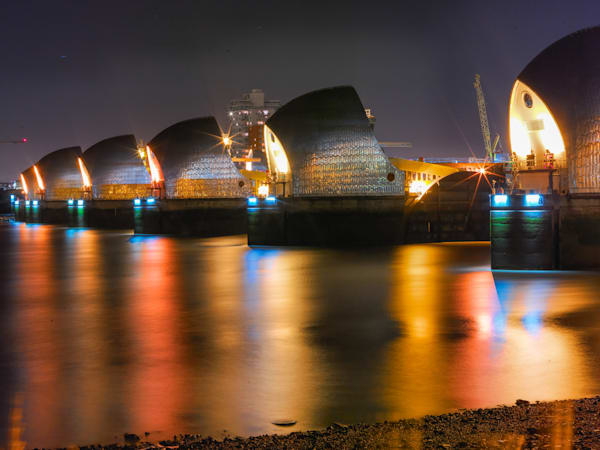 Thames Barrier Reflection II | London Art Photography Print