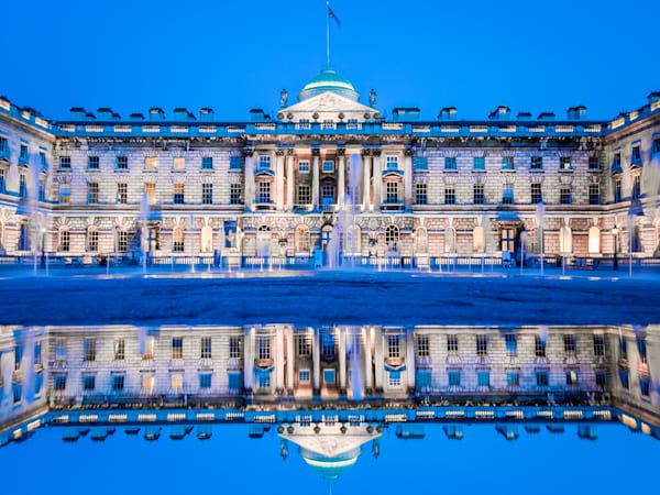 Somerset House in Blue   London Art Photography Print