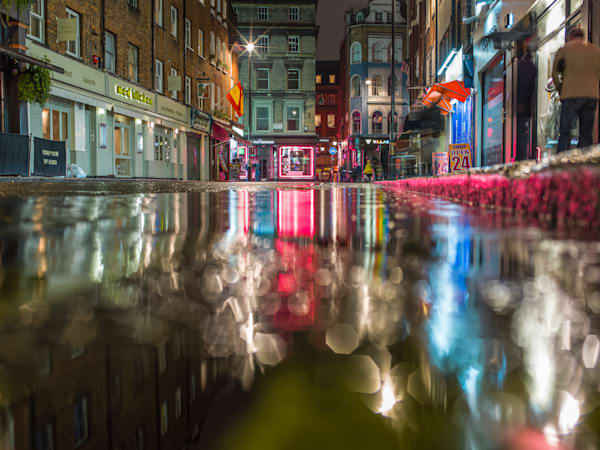 Soho Red Reflection | London Art Photography Print