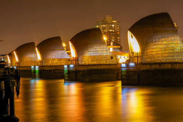 The Amber Barrier | London Art Photography Print