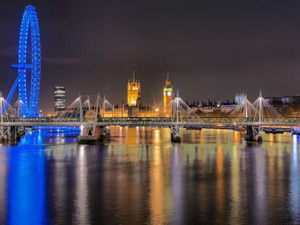 London Eye & Jubilee Bridge | London Art Photography Print