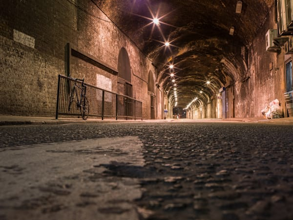 Long Empty Tunnel Up Close | London Art Photography Print