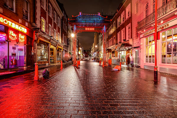 Chinatown in Red | London Art Photography Print