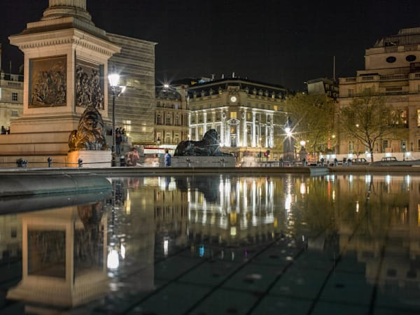Trafalgar Square Reflections At Night | London Art Photography Store
