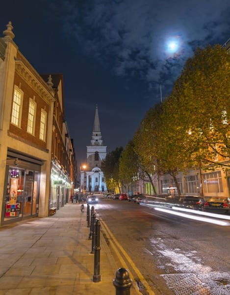 Full Moon Shines On Spitalfields