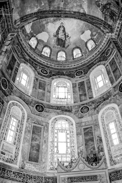 Hagia Sofia Sacred Ceiling | Black and White Art Photography Store