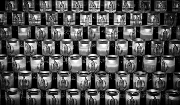 Notre Dame Prayer Candles | Black and White Art Photography Store