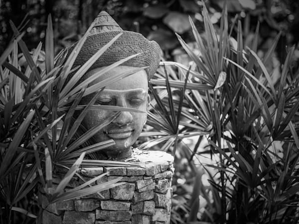 Thai Icon in Bamboo | Black and White Art Photography Store