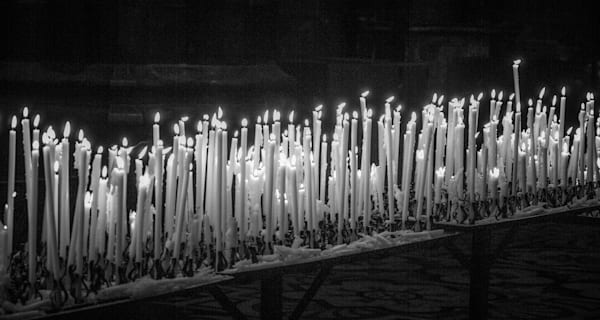 Burning Candles B&W | Black and White Art Photography Store
