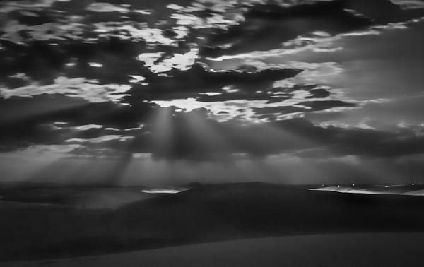Moonlight Through the Clouds | Black and White Landscape Photography