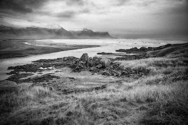 Budavegur Iceland Landscape | Black and White Landscape Photography