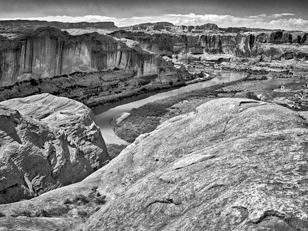 Colorado River Through Moab | Black and White Landscape Photography