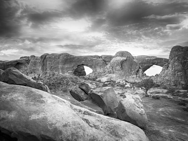Moab Arches | Black and White Landscape Photography