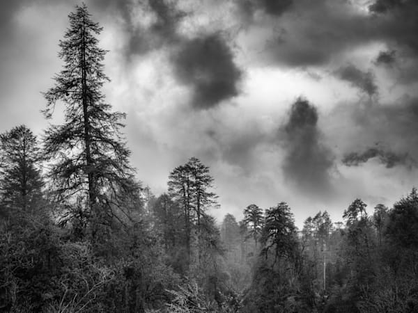 Bhutan Clouds III | Black and White Landscape Photography