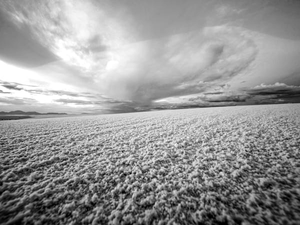 Cloud Swirl Over White Sands | Black and White Landscape Photography