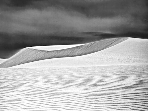White Sands Blowing Sand Dunes   Black and White Landscape Photography