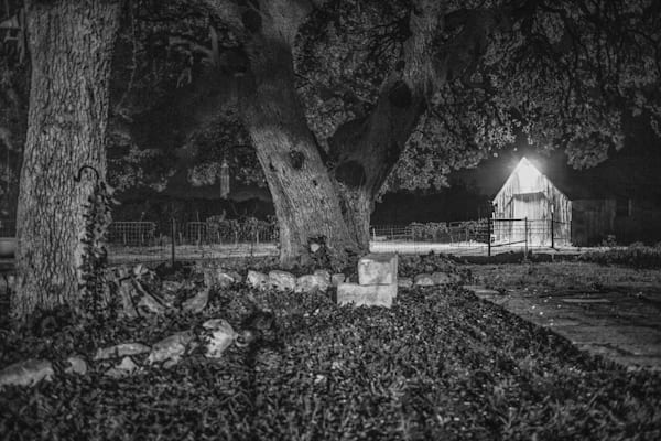 Calm Night At The Ranch   Black and White Landscape Photography