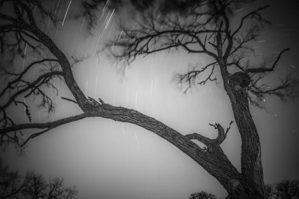 Texas Sky In Motion   Black and White Landscape Photography