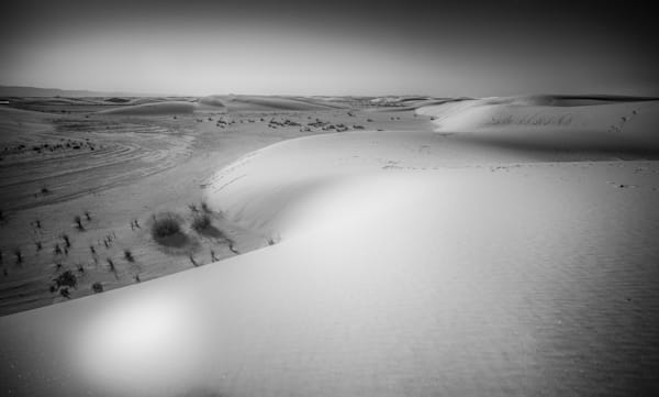 White Sands At Night | Black and White Landscape Photography