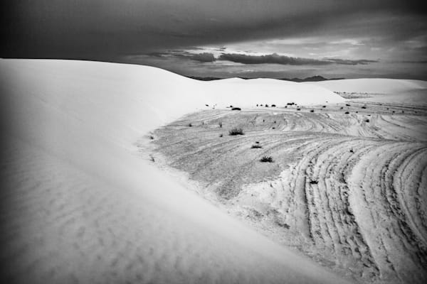 White Sands Full Moon VII | Black and White Landscape Photography