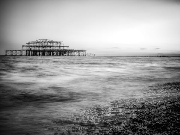 Off The Brighton Shore | Black and White London Photography