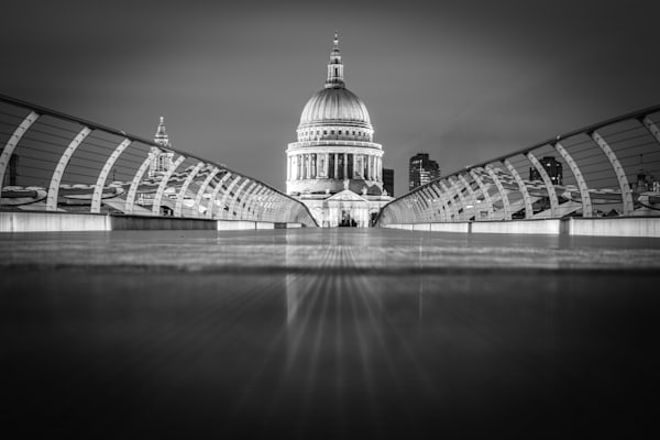 St.. Paul's From Down Low | Black and White London Photography