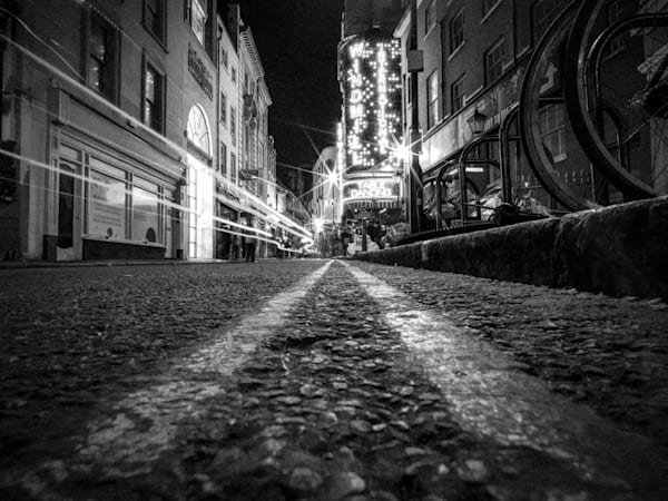Soho Street Down Low | Black and White London Photography