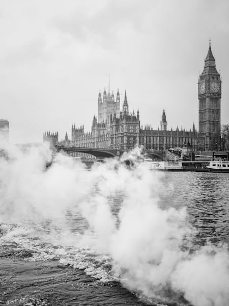 Steam Rising | Black and White London Photography