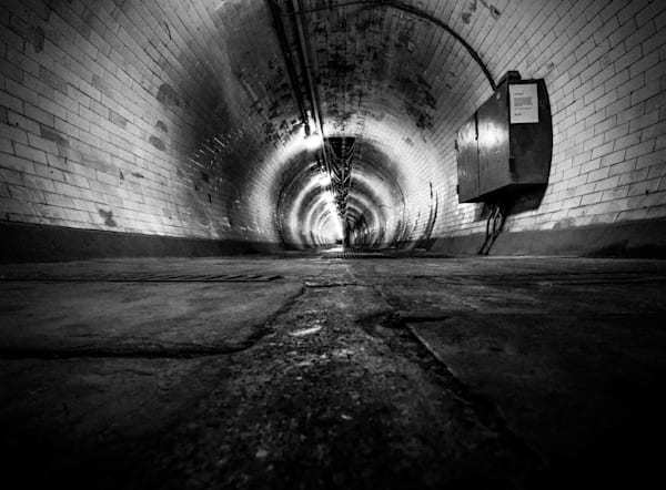 The Endless Tunnel   Black and White London Photography