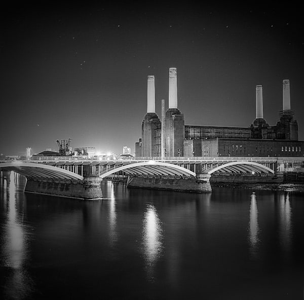 Stars Over Battersea | Black and White London Photography