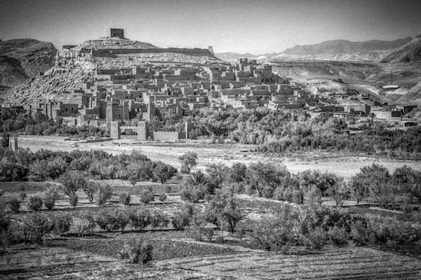 Ait Ben Haddou III | Black and White Landscape Photography