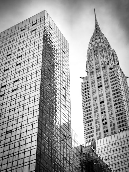 NYC The Chrysler Building | Black and White Architecture Photography
