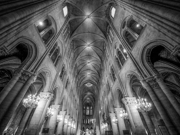Notre Dame Paris Montone II |  Black and White Art Photography Store