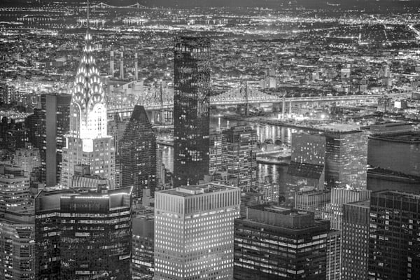 New York City Skyline | Black and White Architecture Photography