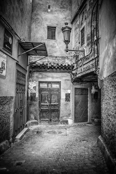 Medina Of Marrakech II | Black and White Architecture Photography