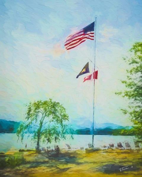 Basin Harbor Flag Pole16x20 Photography Art | Gary Tobler Fine Art
