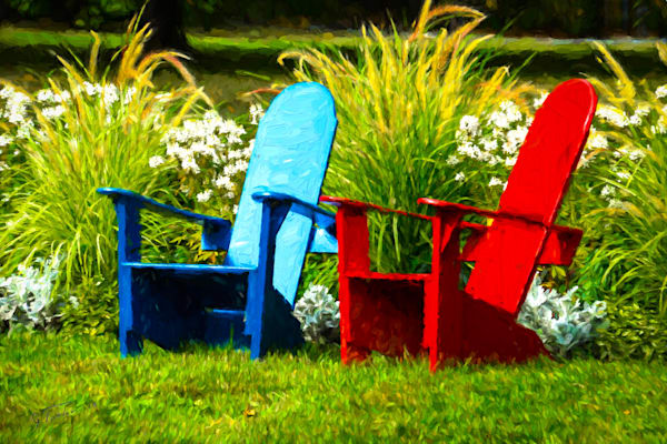 BasinHarborBlueRed Chairs