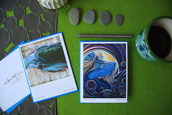 Spencer Reynolds Greeting Cards - Surf Scenes