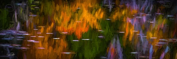 Vt Fall Reflections Abstract Photography Art | Gary Tobler Fine Art