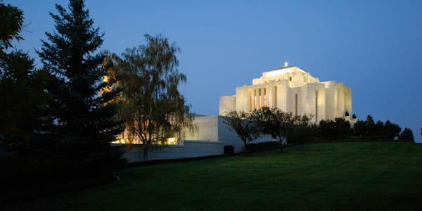 Cardston Temple - Evening View from the Side