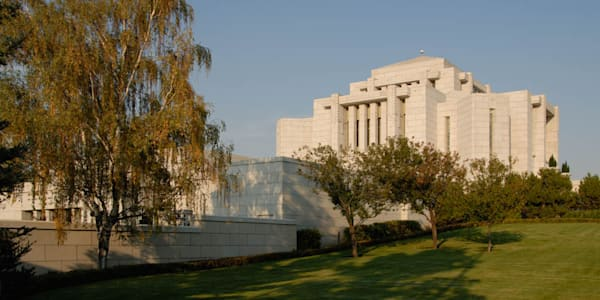 Cardston Temple - Garden from the Side