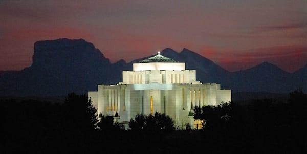 Cardston Temple - Chief Mountain Panorama