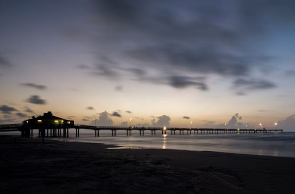 Bob Hall Pier at Sunrise Photographs- Art prints