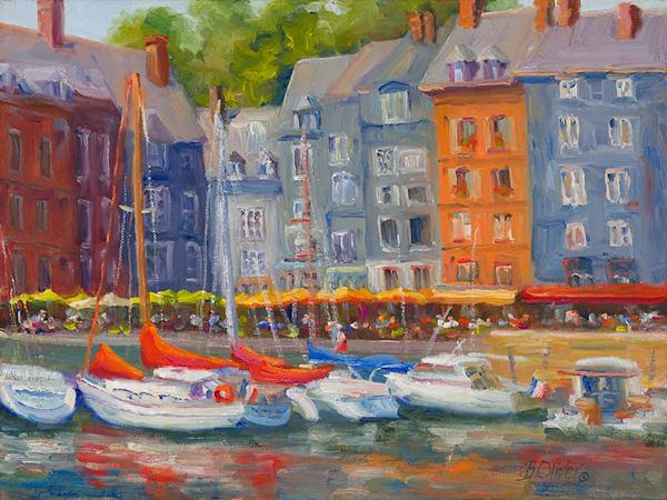 Honfleur Harbor | B. Oliver, Art