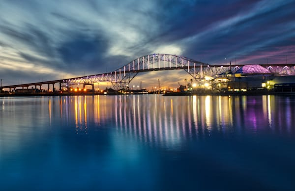 Harbor Bridge in Pastel lights Photographs – Fine Art Prints on Canvas, Paper, Metal & More